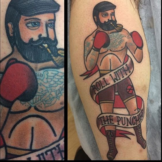 Roll with the punches... Boxer tattoo done by Sammy Winks at Lust for Life Tattoo. #tattoo #tattoos #brisbane #ink