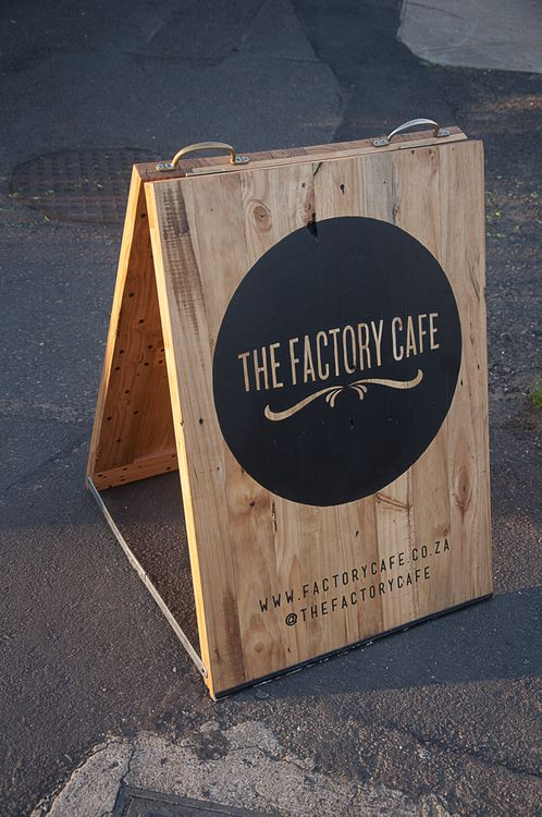"""Street signage branding for a local coffee shop where I live. Durban, South Africa."" by Mike van Heerden"