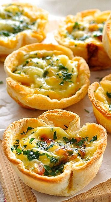 Quiche Toast Cups Recipe Quiche, Toast and Mini Quiches