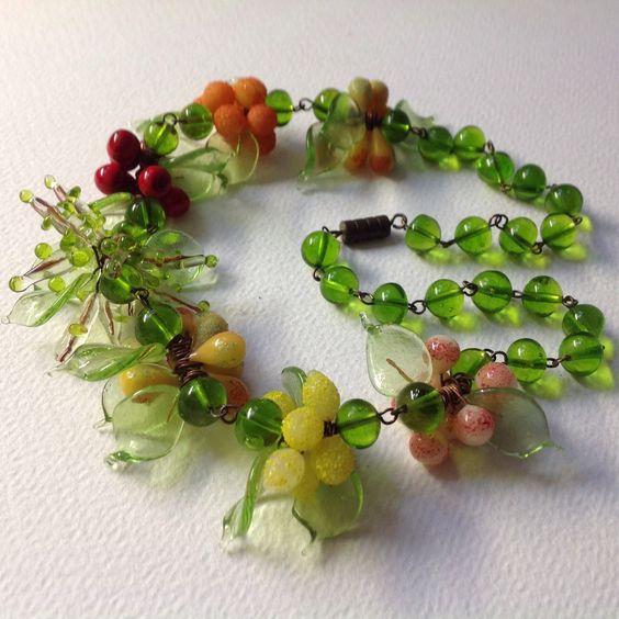 My fruits salad necklace. La mia collana misto frutta.