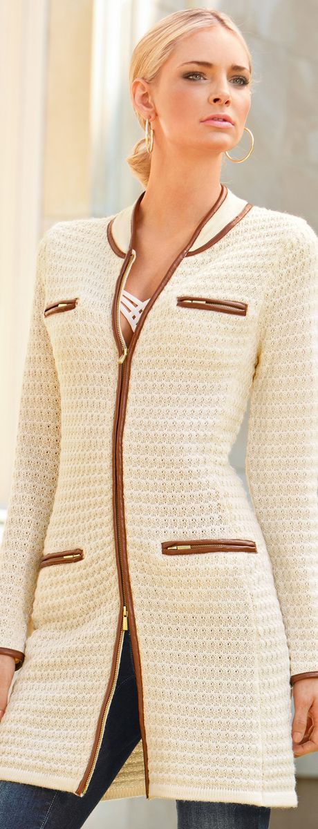 Textured Sweater Coat♥✤ Inspiration | What to wear | Pinterest