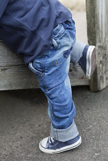 NOthing cuter on a boy than a pair of denim & blue converse Love it!!