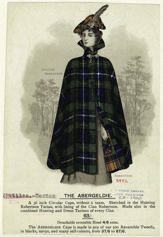 Hunting Tartan on outside. Lined with everyday Tartan.