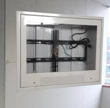 recessed TV enclosure for correctional facilities