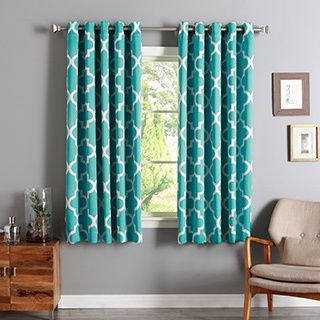 Aurora Home Moroccan Tile Room-Darkening Curtain Panel Pair ...