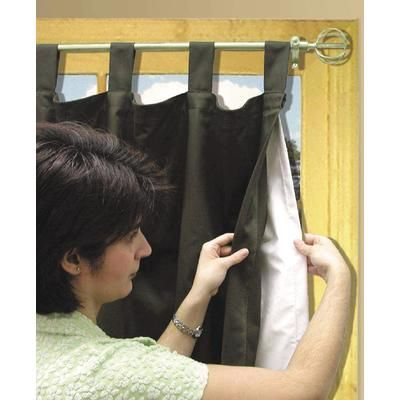 Habitat - Blackout Curtain Liner Line-A-Tab 45X77 Inches, White ...