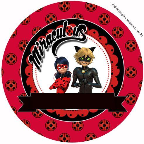 Prodigiosa Ladybug: Toppers y Wrappers para Cupcakes para Imprimir Gratis.