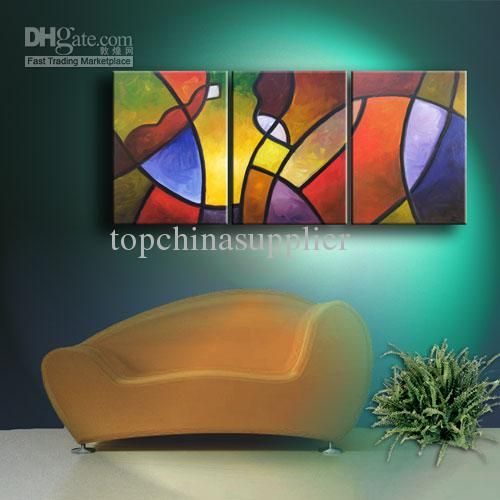 Wholesale Art Modern Abstract Oil Painting on Canvas A Warm Invitation Museum Quality Artwork 3x24x18 Sale, $63.92/Set | DHgate