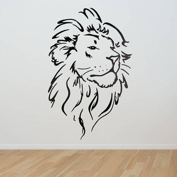 lion head wall sticker sonne kopf tattoos und l wenkopf tattoos. Black Bedroom Furniture Sets. Home Design Ideas