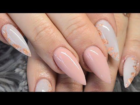 Sculpted Acrylic Nails Cjp Nail Systems Glam And Glits Rose Gold Nails Nail Ideas Youtube Rose Gold Nails Gold Nails Acrylic Nails