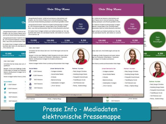 digitale Pressemappe, Media Kit, Marketing, Word-Vorlage - professionelles Design DesignStudioChristine bei DaWanda