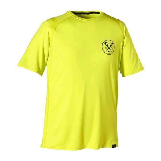 Capilene 1 Silkweight Graphic Tee - X-Pitons Lite: Chartreuse XPCT