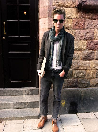 ray ban mens sunglasses boots  ray ban sunglasses, post fire dew scarf, boomerang blazer, weekday jeans, filippa
