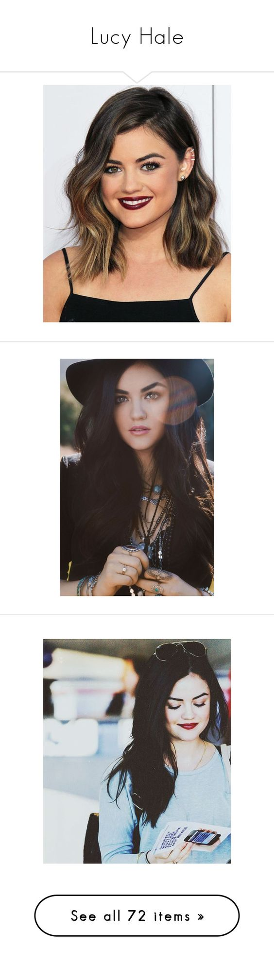 """Lucy Hale"" by agentepevensie ❤ liked on Polyvore featuring lucy hale, hair, cabelos, girls, people, pictures, backgrounds, outfits, lucy and pretty little liars"