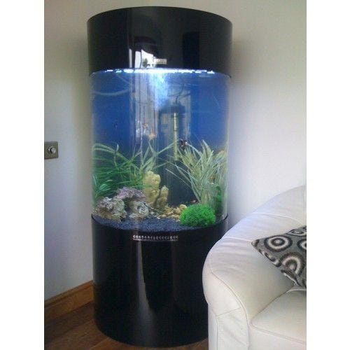 Column Cylinder Acrylic Fish Tank Allpondsolutions In 2020 Large Fish Tanks Fish Tank Garden Fish Tank
