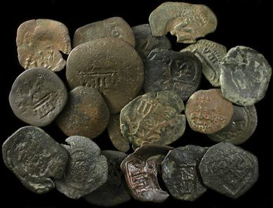 Hoard of Spanish pirate copper coins.......Ancient Resource: Pirate & Shipwreck Treasure Coins for Sale
