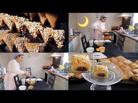 أجواء تحضيرات رمضان7 2018 جديد حلويات رمضان معسلة مقروط التمر بريوات باللوز دوون قلي Youtube Table Settings