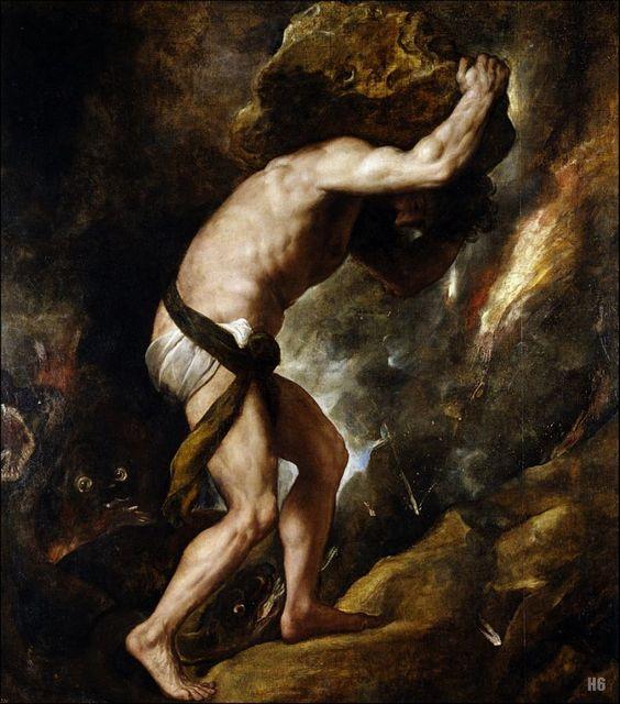 Sisyphus. 1548-49. Titian. Italian. 1485-1576. oil on canvas.: