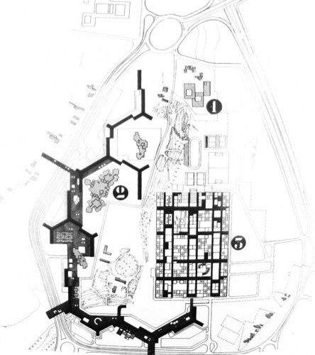 icancauseaconstellation:toulouse le mirail. university plan - candilis, josic, woods: