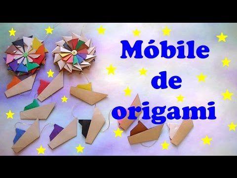 MÓBILE DE ORIGAMI MANDALAS E BARQUINHOS - YouTube