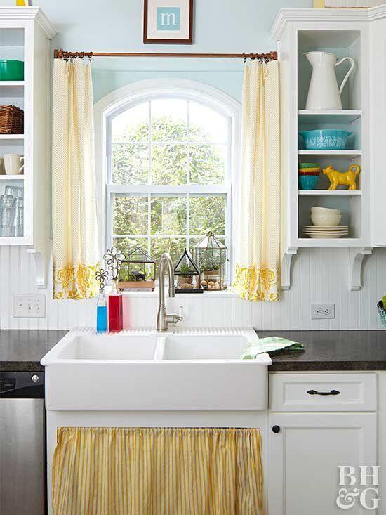 14 Diy Kitchen Window Treatments Kitchen Window Treatments