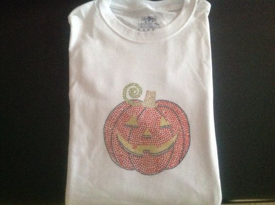 Women's Embellished pumpkin t  shirt by Qoot2Boot on Etsy