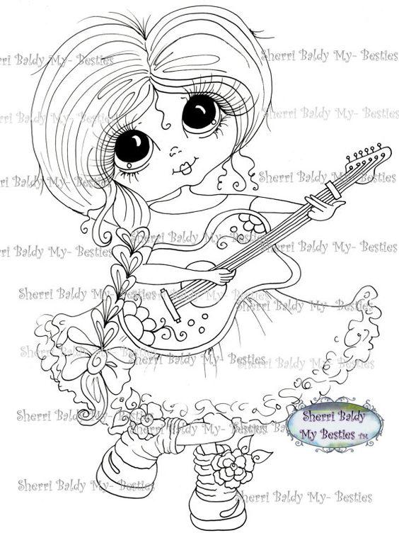 SOFORTIGE DOWMLOAD Digital Digi Briefmarken großes Auge großer Kopf Puppen Digi Img023 meine friends von Sherri Baldy