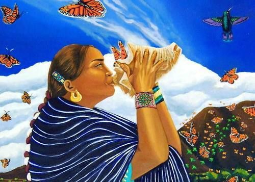 """""""Healing is the baring of one's soul to surrender forgiveness acceptance transformation love wholeness... becoming a butterfly taking flight."""" —Grace Alvarez Sesma (Chicana/Kumiai/Yoeme)"""