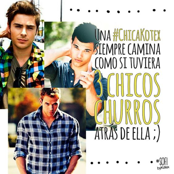 churros, chicos, chicas, frases