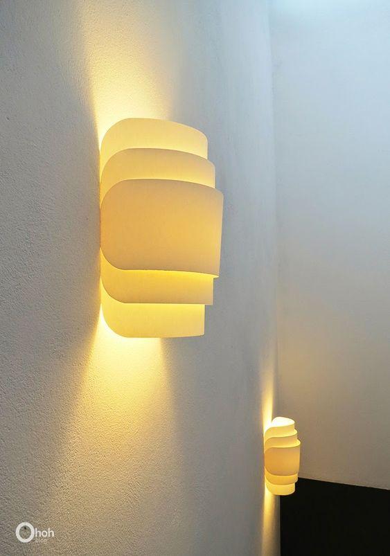 Blog Ohoh - artesanías de bricolaje y: lámpara de pared del papel de bricolaje