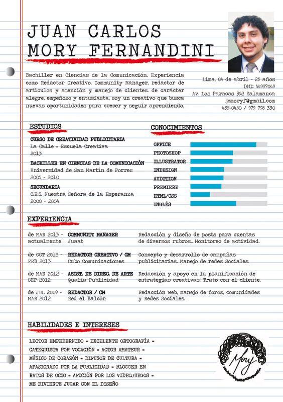 ¿Qué te parece el CV de Juan Carlos?