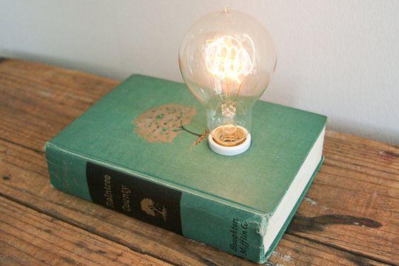Hardback Book Lamp - Raintree County by Typewriter Boneyard on Etsy