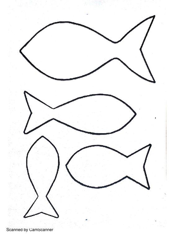 Dessin gabarit poissons imprimer id es coutures pinterest - Idees dessin simples ...