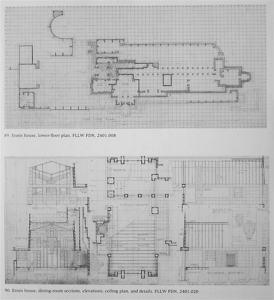 Wright Chat View Topic Ennis House Restoration Completed Ennis House House Restoration Wright Ennis house floor plan