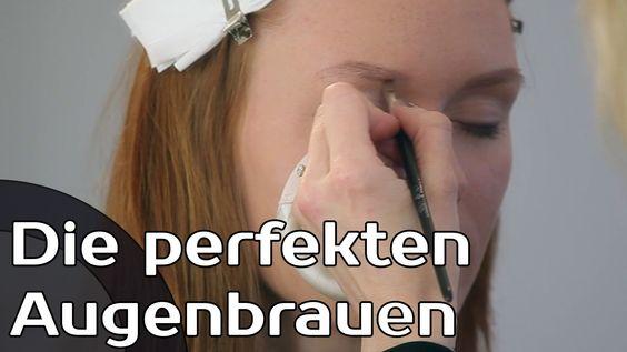 Die perfekten Augenbrauen - Make-up / schmink Tutorial - fashionradar.tv