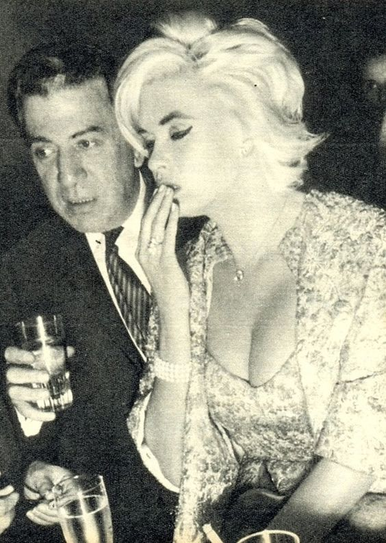 Jayne Mansfield looks a little under the weather in this picture