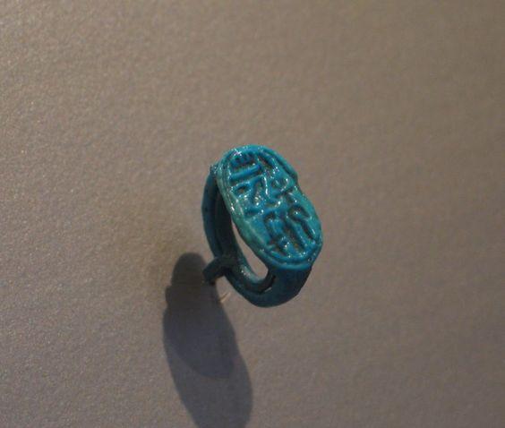 #1 Signet Ring Bearing Cartouche of Tutankhamun, ca.1329-1322 B.C.E. Egypt (New Kingdom) - XVIII Dynasty. https://www.brooklynmuseum.org/opencollection/objects/4106/Signet_Ring_Bearing_Cartouche_of_Tutankhamun/image/81151/image