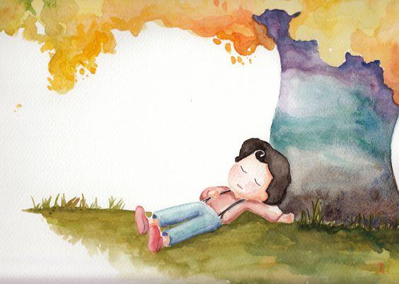 #illustration #ilustration #ilustração #ilustracion #boy #chico #watercolor #acuarela