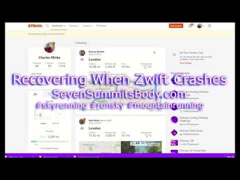Zwift Fit File Crash Recovery Demonstration Youtube Recovery