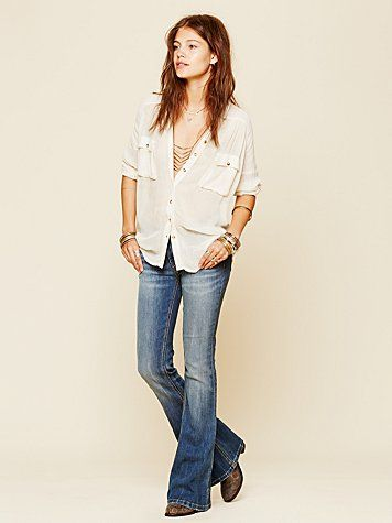 Free People 5 Pocket Skinny Flare ... comes in different inseams!