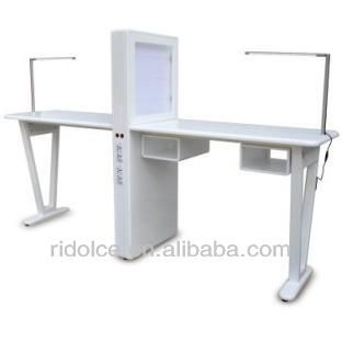 Nail table used nail salon furniture nail technician for Nail technician table