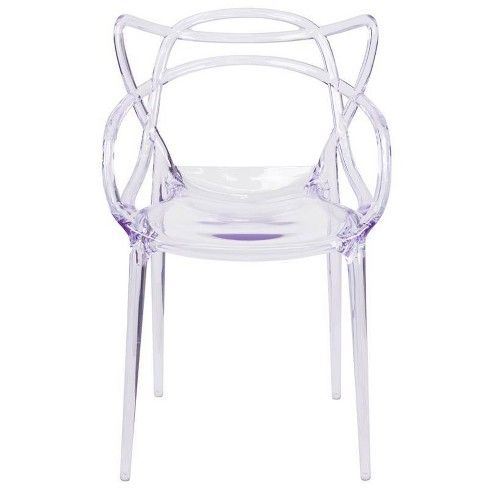 Nesting Transparent Stack Side Chair Clear Riverstone Furniture