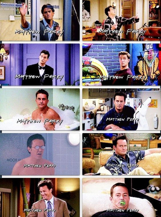 The ten seasons of theme song images for my favorite Friend. :)
