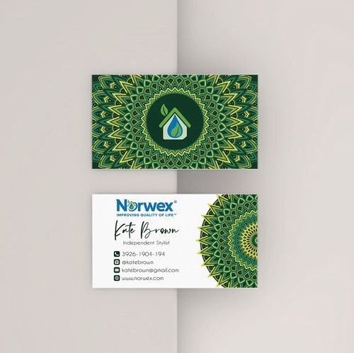 Greenery Norwex Business Cards Norwex Independent Consultant Nw10 Norwex Arbonne Business Cards Personal Cards