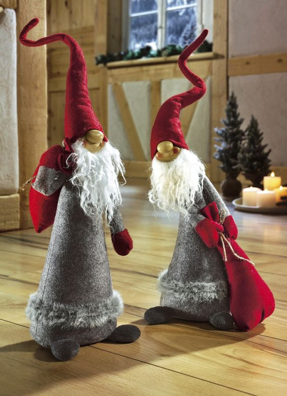 Wichtel 2er set weihnachtliche dekorationen for Brigitte hachenburg weihnachten
