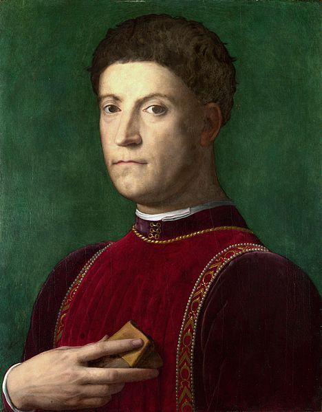 """Piero di Cosimo de' Medici (the Gouty), (Italian: Piero """"il Gottoso"""") (1416-1469) ~ Portrait by Agnolo Bronzino"""