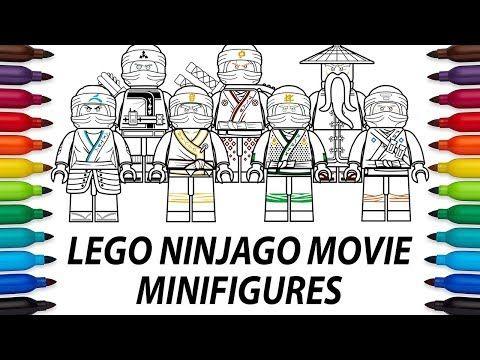 How To Draw Lego Ninjago Movie Minifigures Compilation Video Youtube Lego Ninjago Movie Lego Ninjago Mini Figures