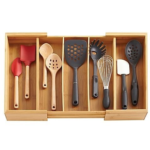 Totally Bamboo Expandable Utensil Organizer With Images