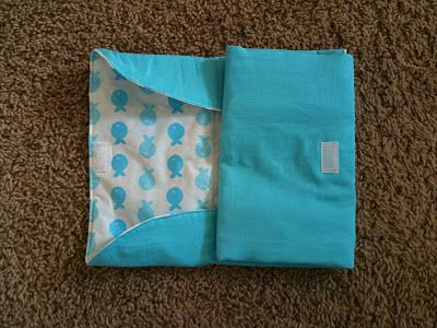 Diaper Changing Pad from vinyl tablecloth--tutorial