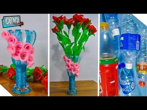 Vas Bunga Botol Plastik Yang Mudah Di Buat Di Rumah Diy Plastic